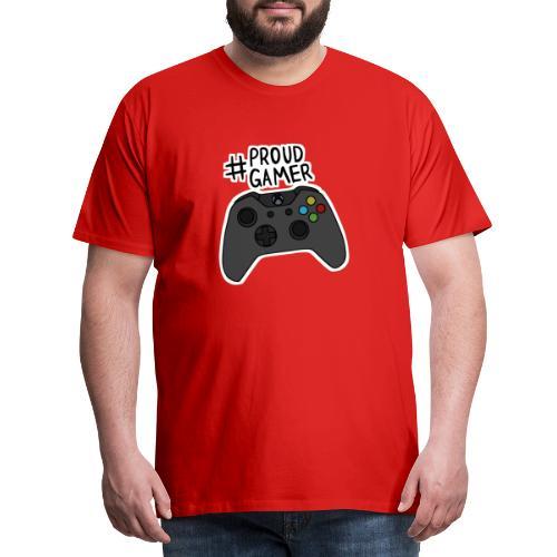 #proudxboxgamer - Miesten premium t-paita
