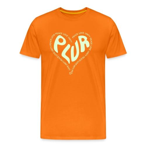 PLUR Peace Love Unity & Respect ravers mantra in a - Men's Premium T-Shirt