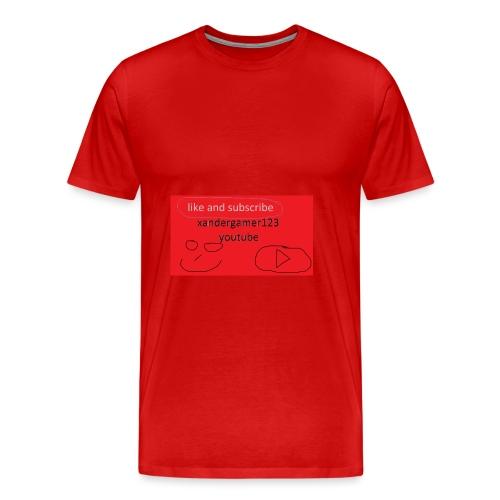 xandergamer123 support clothes - Men's Premium T-Shirt
