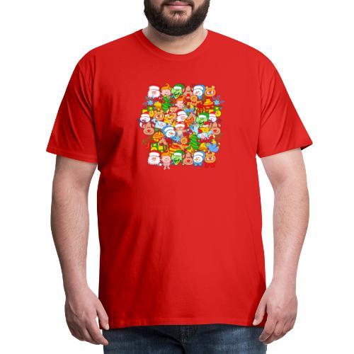 Tous sont prêts pour Noël, pour célébrer en grand! - Men's Premium T-Shirt