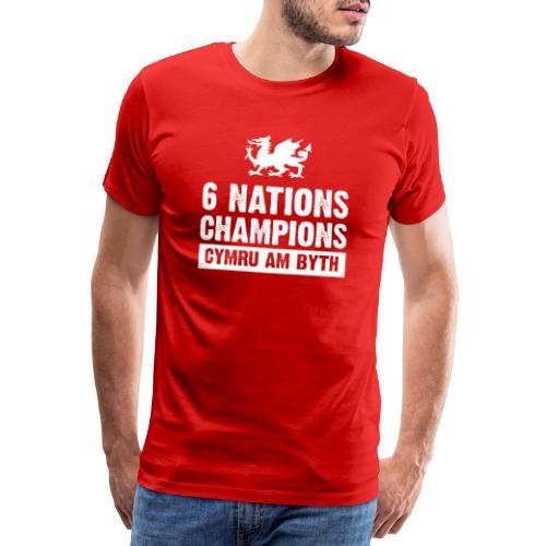 Wales Six Nations Rugby Champions - Men's Premium T-Shirt