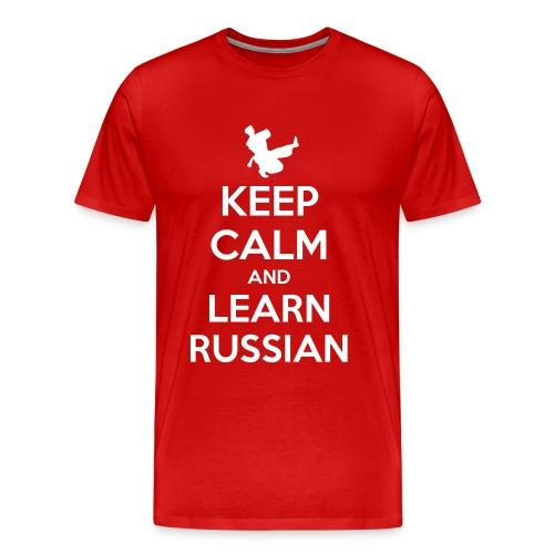 keep Calm - Learn Russian - Maglietta Premium da uomo