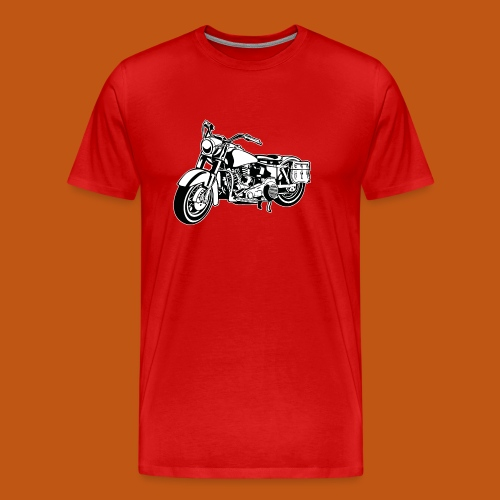 Chopper Motorrad 10_schwarz weiß - Männer Premium T-Shirt