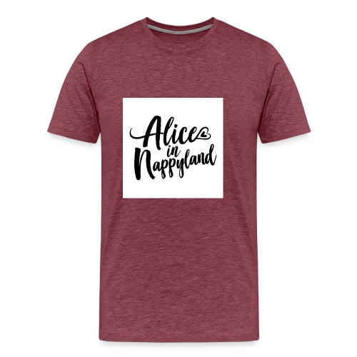 Alice in Nappyland Typography Black 1080 1 - Men's Premium T-Shirt