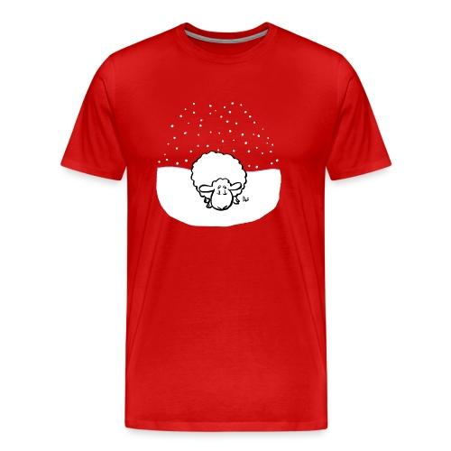 Snowy Sheep - Men's Premium T-Shirt