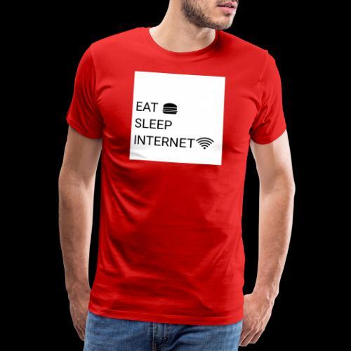 EAT SLEEP INTERNET - Men's Premium T-Shirt