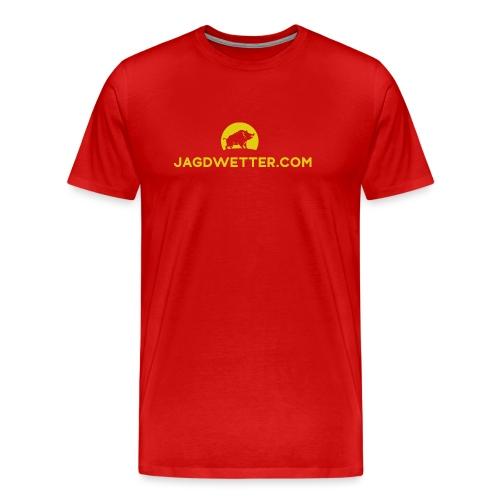 jagdwetter url bildmarke - Männer Premium T-Shirt