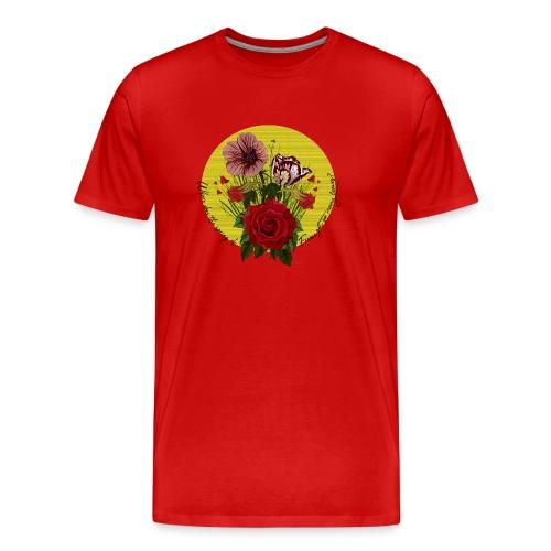 France's flowers design - Camiseta premium hombre