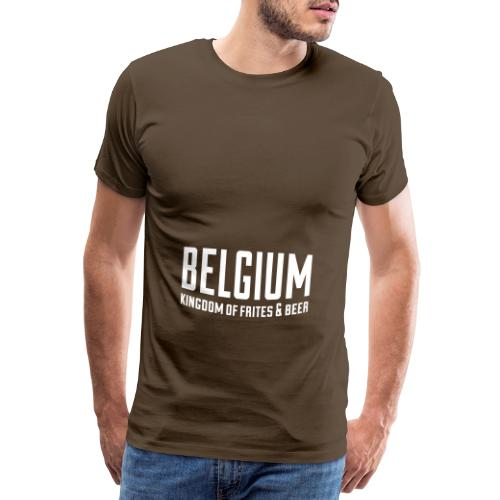 Belgium kingdom of frites & beer - T-shirt Premium Homme