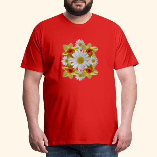 Narzissen Margeriten Osterglocken Blumen Blüten - Männer Premium T-Shirt