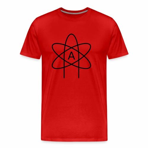 Emblemat ateizmu - Koszulka męska Premium