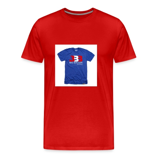 ClassicBBBroyalredwhite 1024x1024 - Mannen Premium T-shirt