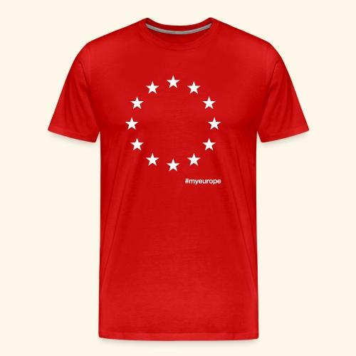 #myeurope white - Männer Premium T-Shirt