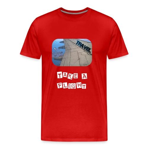 Travel - Take A Flight - Männer Premium T-Shirt