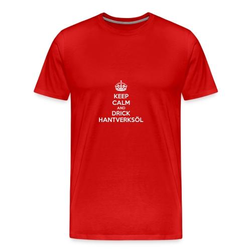 Drick hantverksöl ljus - Premium-T-shirt herr