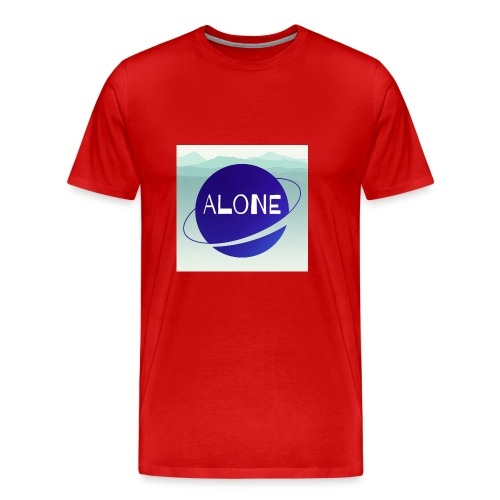 Alone planet with background - Men's Premium T-Shirt