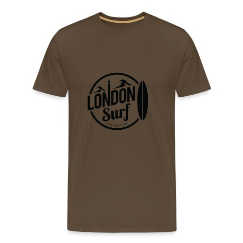 London Surf - Black - Men's Premium T-Shirt