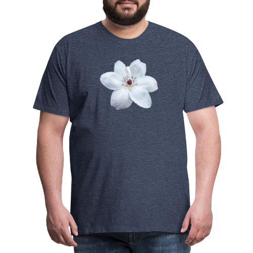 Jalokärhö, valkoinen - Miesten premium t-paita