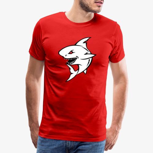 Requin Blanc Agressif - T-shirt Premium Homme