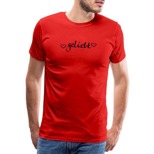 geliebt, schwarz - Männer Premium T-Shirt