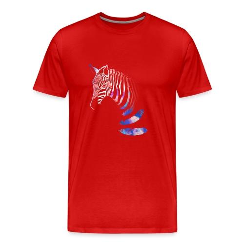 Vibrant Zebra - Men's Premium T-Shirt