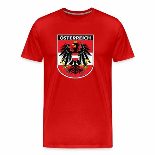 Österreich Flagge Wappen Geschenk Symbol Nation - Männer Premium T-Shirt
