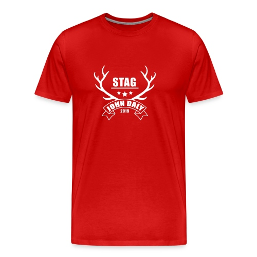jd-stag-white - Men's Premium T-Shirt