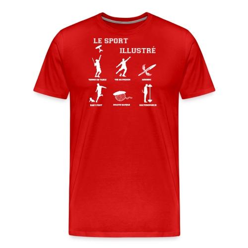 le sport illustre blanc png - T-shirt Premium Homme
