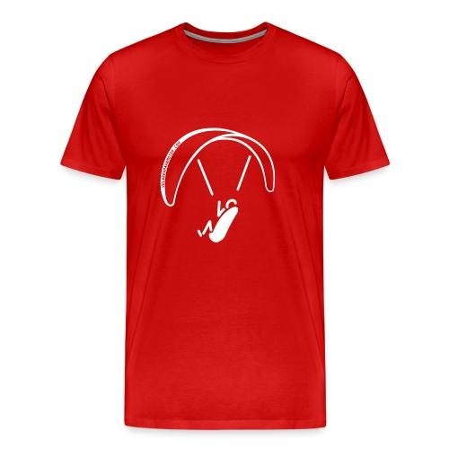 parapente negro camiseta volarenparamoto - Camiseta premium hombre