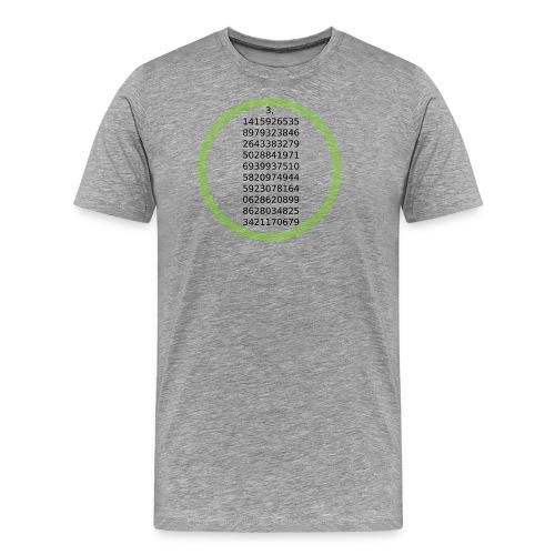 Number Pi Green Circle - Miesten premium t-paita