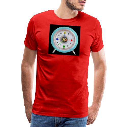 3D O' Clock with 3D engine and objects. - Men's Premium T-Shirt
