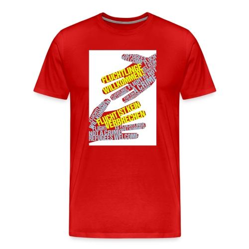 Flüchtlinge Willkommen w - Männer Premium T-Shirt