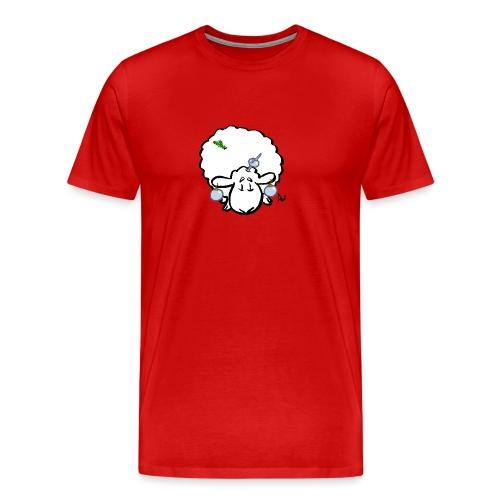 Juletre Sau - Premium T-skjorte for menn