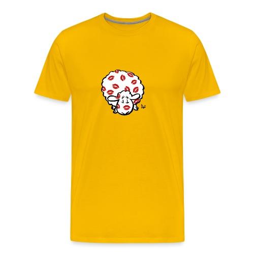 Kuss Mutterschaf - Männer Premium T-Shirt