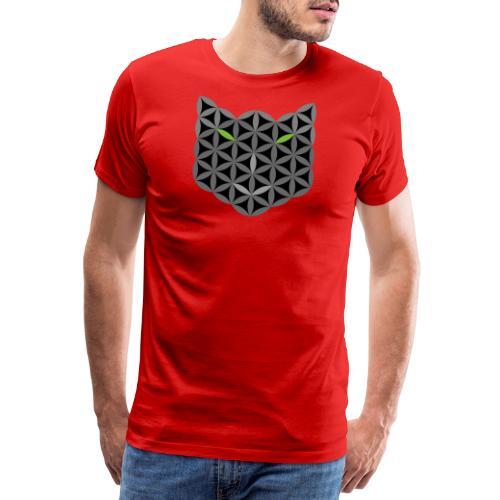 The Cat Of Life - Sacred Animals,B03, Grey smile - Men's Premium T-Shirt