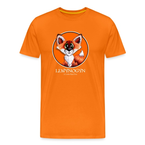 llwynogyn - a little red fox (white) - Miesten premium t-paita