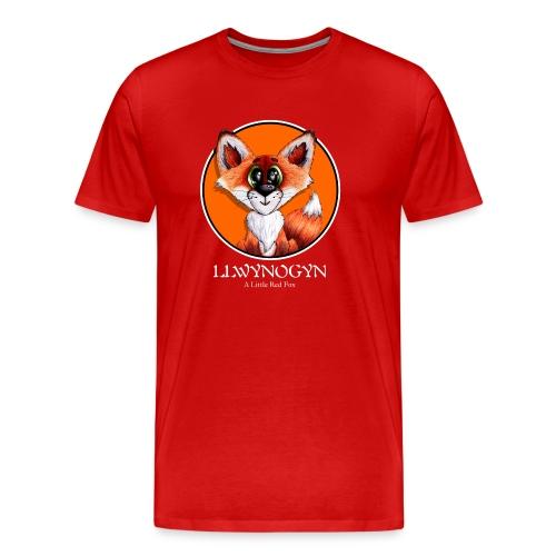 llwynogyn - a little red fox (white) - Herre premium T-shirt