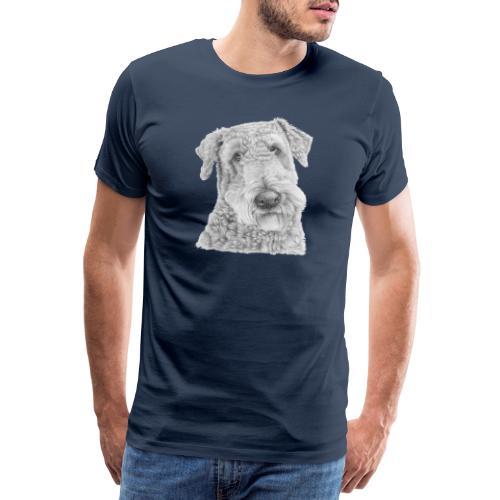 airedale terrier - Herre premium T-shirt