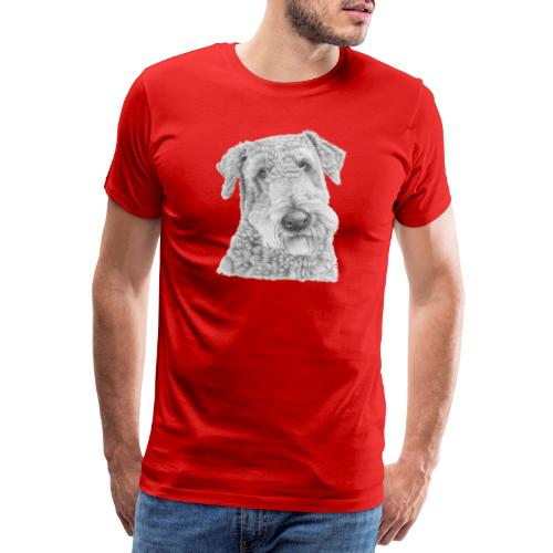 airedale terrier - Herre premium T-shirt