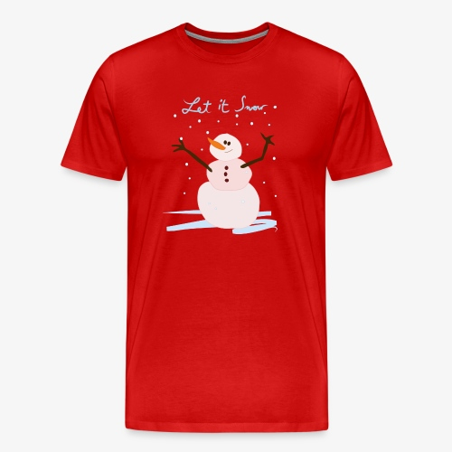 snowman let it snow - T-shirt Premium Homme
