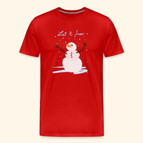 snowman let it snow - T-shirt Premium Homme