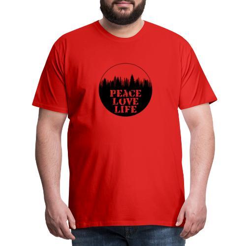 Peace Love Life - Männer Premium T-Shirt