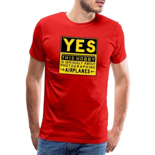 Mitä lentosuunnittelu tarkoittaa - esiliinamerkki - Miesten premium t-paita