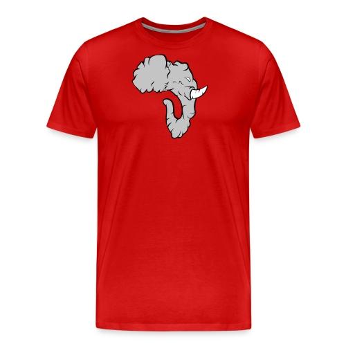 Elefante Perfil - Camiseta premium hombre