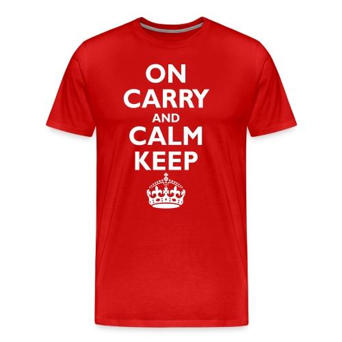 Keep calm upside down - Men's Premium T-Shirt