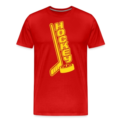 Hockey Mum, Stick & Puck - Men's Premium T-Shirt