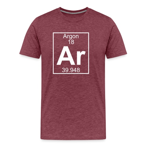 Argon (Ar) (element 18) - Men's Premium T-Shirt