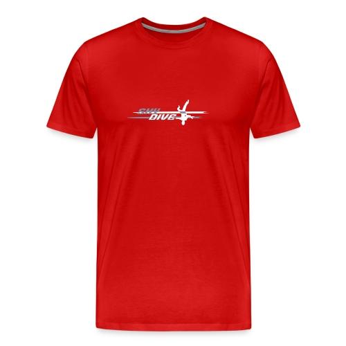 Skydive HeadDown Logo - zweifarbig - Männer Premium T-Shirt
