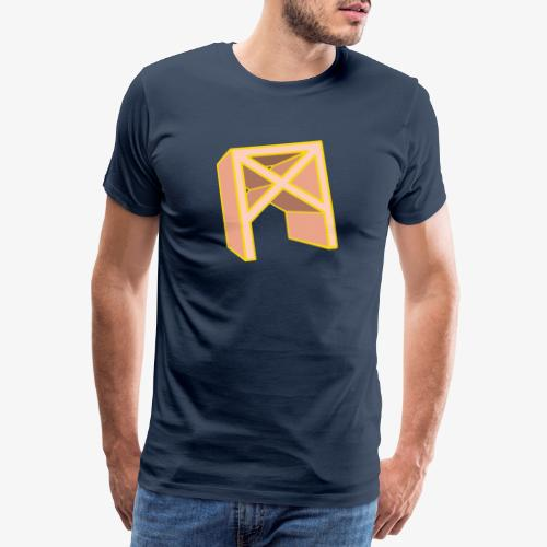 Rune Mannaz in Living-Coral - Männer Premium T-Shirt