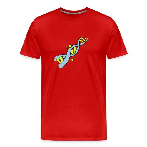 DNA (blau / gelb) - Männer Premium T-Shirt